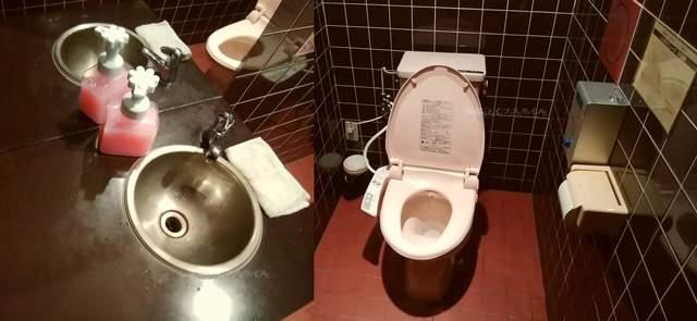 天心坊の女性用トイレ