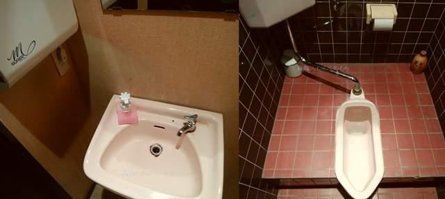 天心坊の男性用トイレ