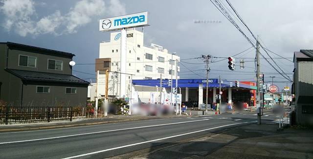 OGIKAWA山木戸店から見えるmazda