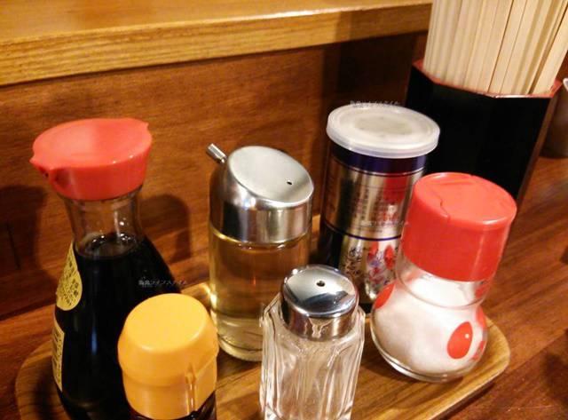 OGIKAWA山木戸店の卓上調味料