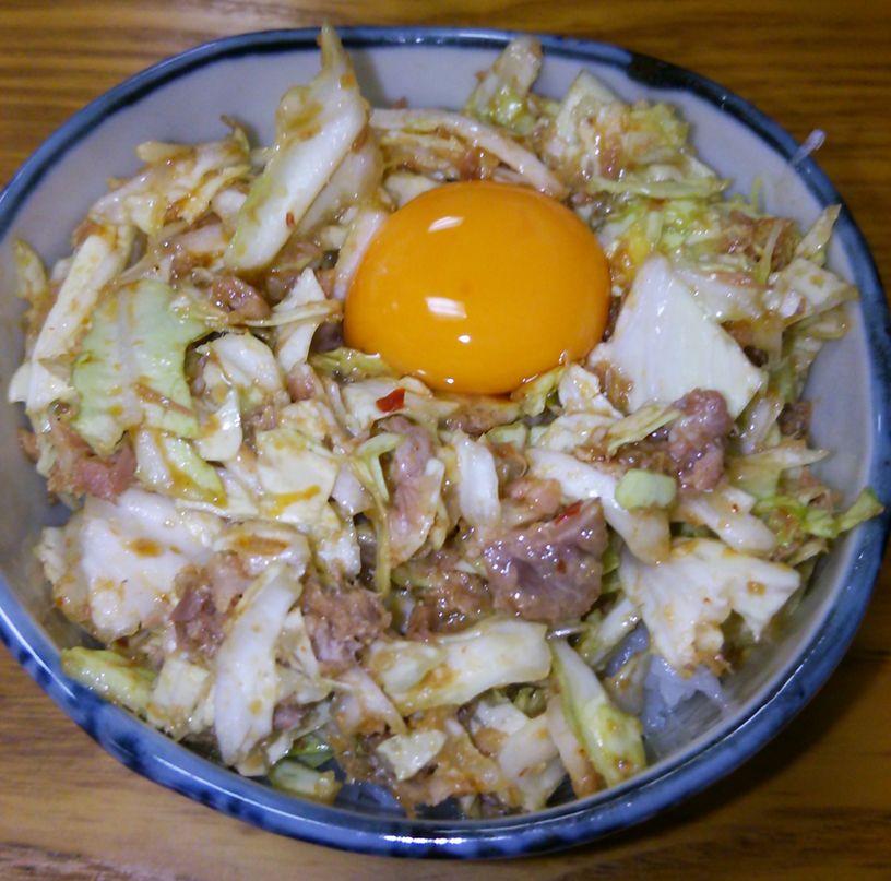 奥村家(南紫竹店)のキャベチャ丼かまかない丼のどちらか