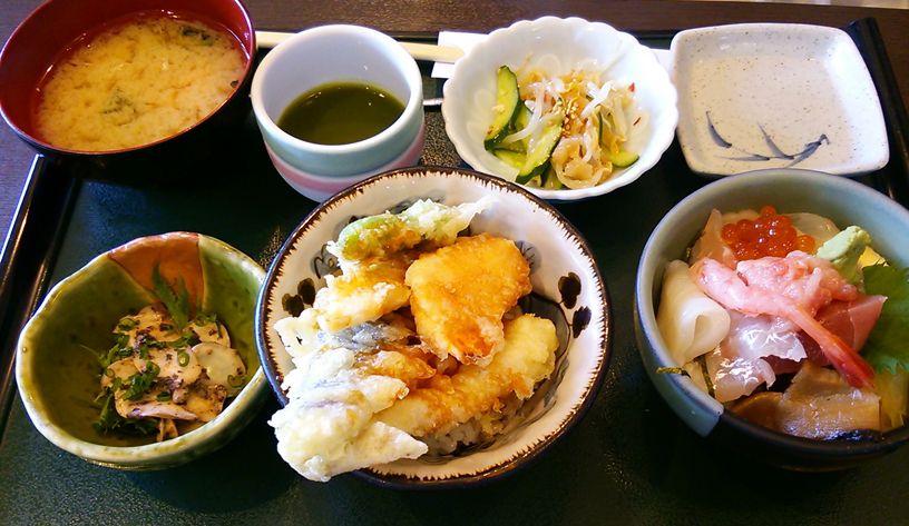 魚菜家の二種小丼セット