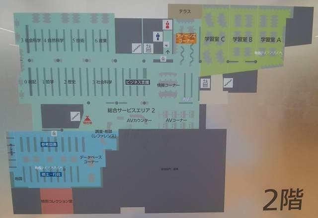 ほんぽーと2Fの地図
