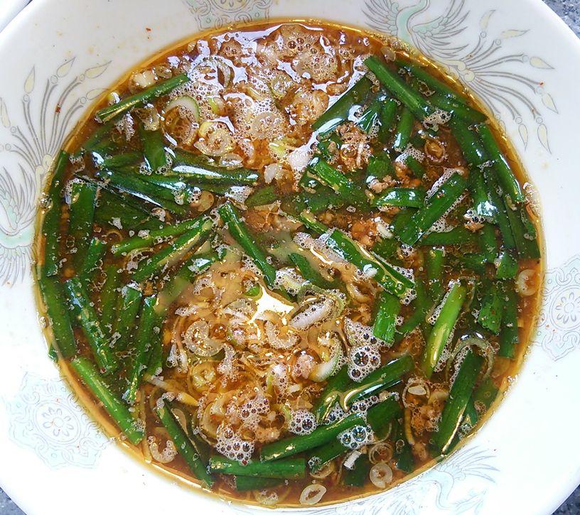 北京のつけ麺(マーボー味)のつけ汁