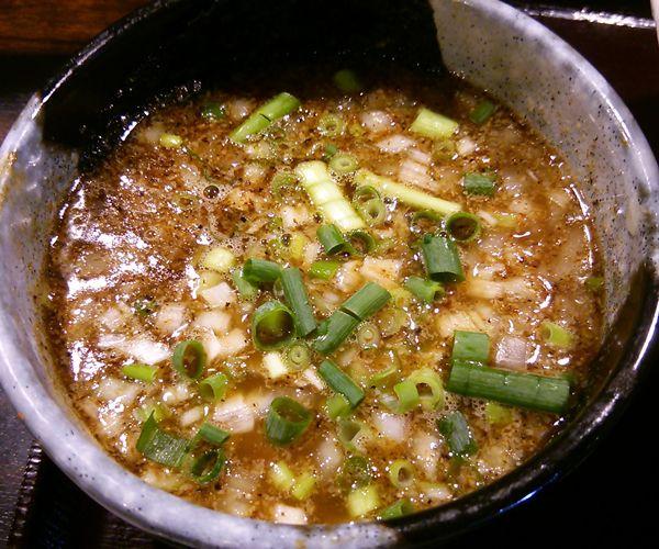 麺屋しょうじのつけ麺のスープ