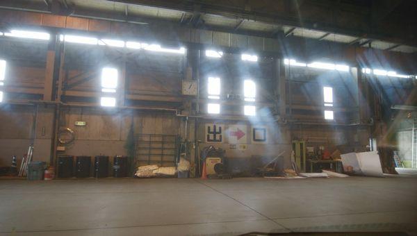 新田清掃センターの破砕場の出口
