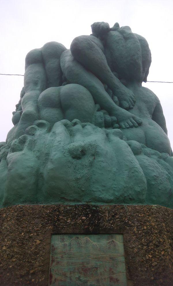 新川河口排水機場のモニュメントその6