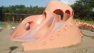 関分記念公園のタコの遊具のアップ