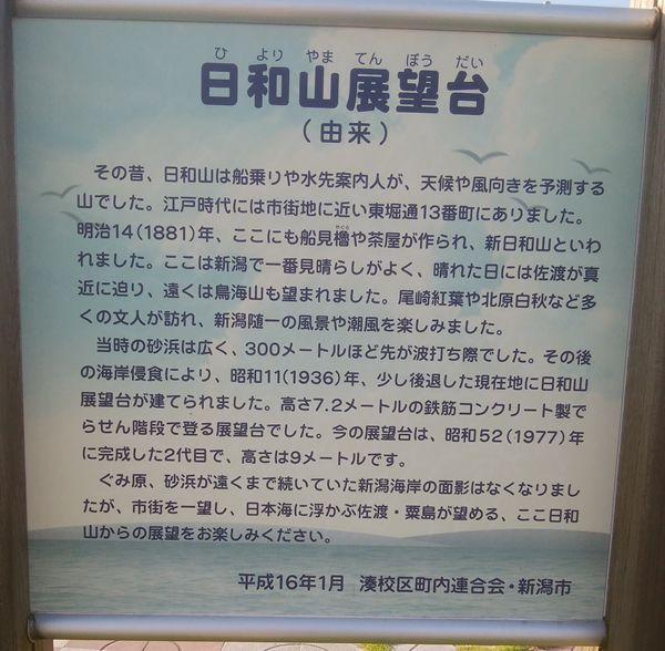 日和山展望台の地上の看板