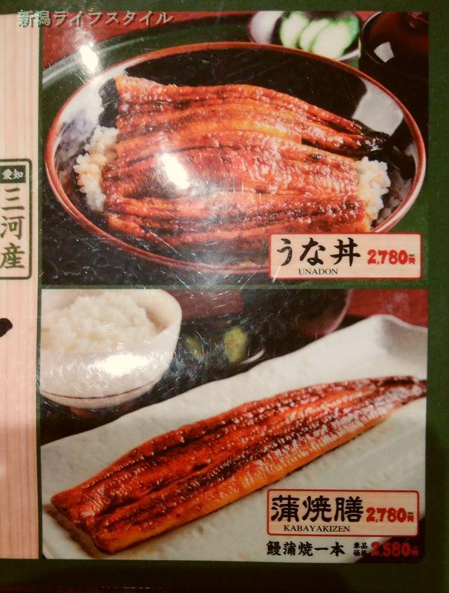 鮭山マス男商店のうな丼、蒲焼きメニュー