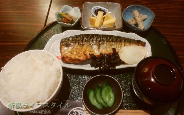 鮭山マス男商店の大トロさば焼き定食