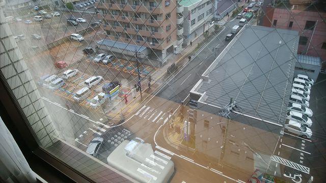 じゅらくステイ新潟の部屋の窓からの景色