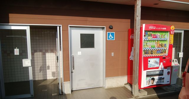 道の駅花夢里にいつの車いす用トイレ