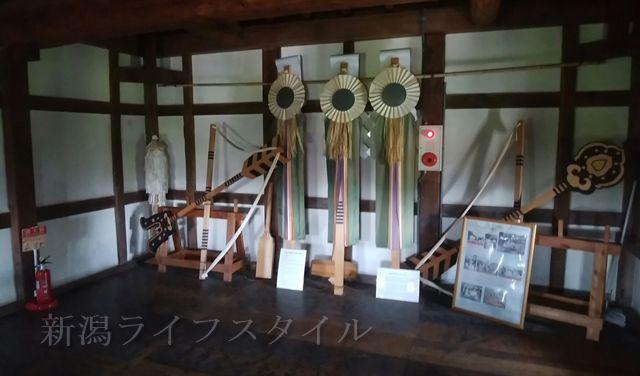 新発田城の櫓の2階にある物