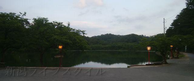 五十公野公園の升潟の入り口