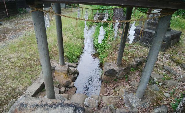 羽黒神社の最初の鳥居の前の水汲み場のようなところ