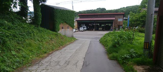 羽黒神社を下山して道路が見えてきた辺り