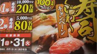 ドラッグトップスの寿司くいね~キャンペーンの応募用紙の概要