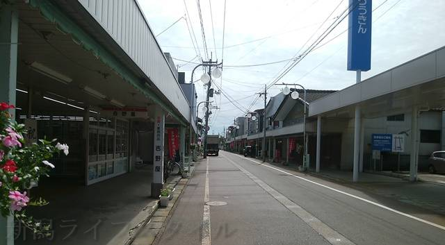 鯛車商店街の風景