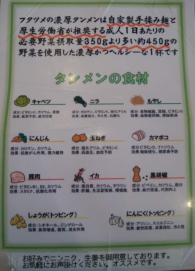 フタツメのタンメンの具材のポップ