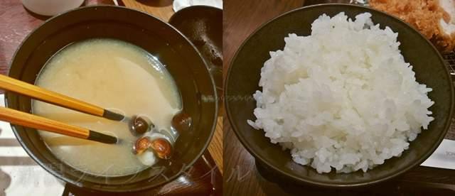 和幸のご飯と味噌汁。