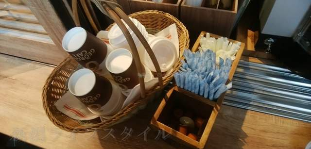 ふるまちコッペのコーヒーの道具