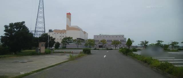 アクアパークにいがたの前から新田清掃センター方向を見た景色