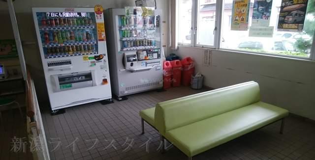 新潟市南地区センター1Fの休憩所