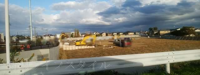 新通のケンタッキー近くの建設現場