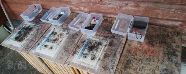 上堰潟公園のスタンプ台
