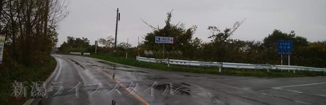 カーブドッチから上堰潟公園へ向かう交差点の図その1