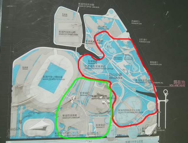 白山公園周辺の地図