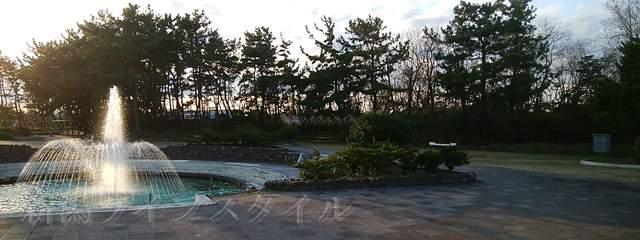 鳥屋野中央公園(鏑木エリア)の噴水