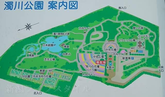 濁川公園の地図