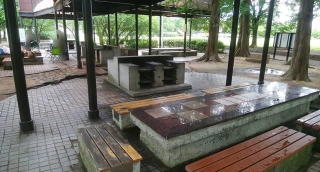 亀田公園のバーベキュー場の全体像