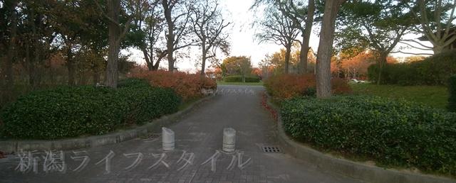 舞平公園の入口正面の外観