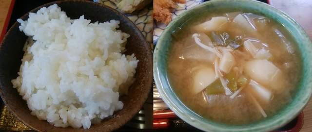 源松食堂のご飯とお味噌汁