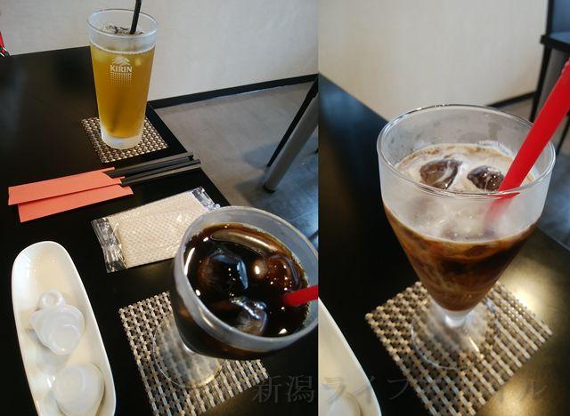 松兵衛のドリンクセットのアイス珈琲と緑茶だったかな?