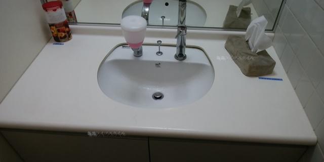 コバック女池インター店のトイレの手洗い場
