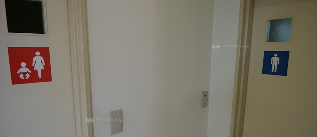コバック女池インター店のトイレ入り口