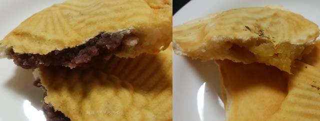 武蔵家のたい焼きのあずきとカスタードクリーム