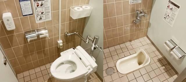 バザール館2Fのトイレの大用の洋式・和式