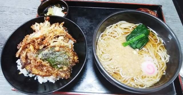 ミニ天丼セット(えび丼&たぬきそば)