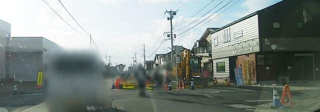 女池上山~鳥屋野2丁目の道路拡張工事風景その3