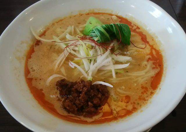 中華そばふじの新津店の味噌担々麺大盛り