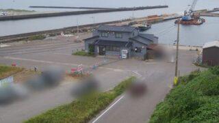 新川漁港の俯瞰図