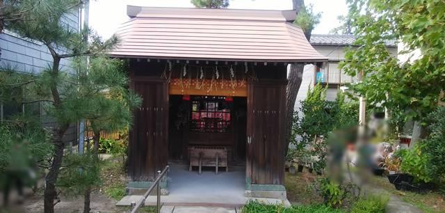 御林稲荷社の拝殿