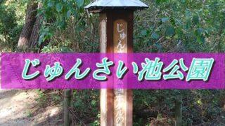 じゅんさい池公園の途中の木の看板