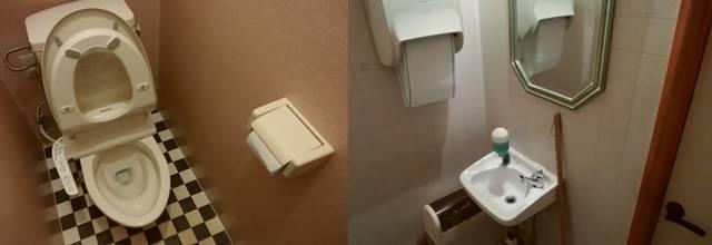 たかはし御食事処のトイレと手洗い場