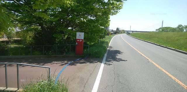 ランプリールの入り口の直前で見る看板の距離